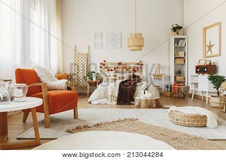 Furnished Scandinavian Bedroom