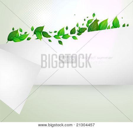 bio concept design eco friendly for summer floral banner