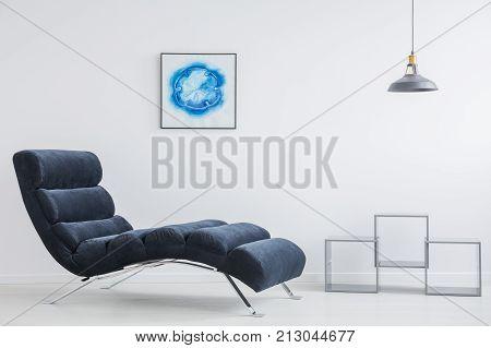 Grey Lampshade Above Shelves