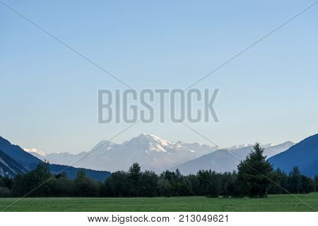 Mountains and peaks landscape natural environment. Hiking in the alps. Tirol Austria Europe