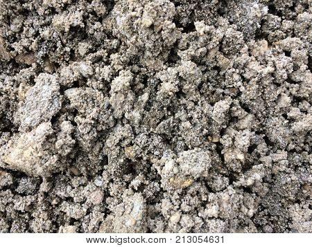 Photo of stone pile abstract grey texture