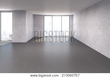 Large Room With Empty Wall