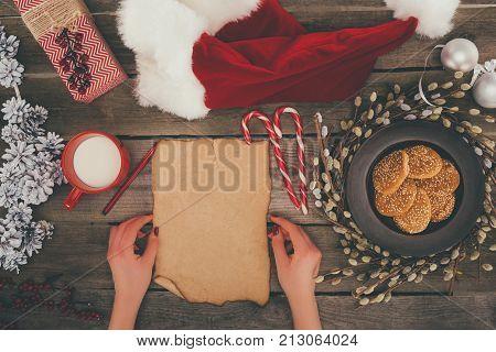 Blank Card And Santa Hat