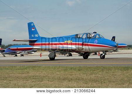 Yugoslavian Soko G-2 Galeb Fighter Jet Plane