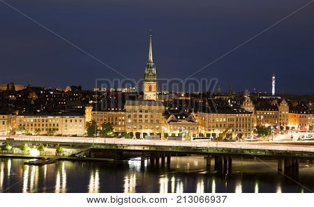 General View Of Old Town Gamla Stan In Stockholm, Sweden