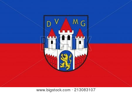 Flag of Jever is the capital of the district of Friesland in Lower Saxony Germany. Vector illustration