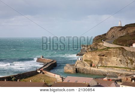 Portreath Pier, The Lookout And Pepperpot,
