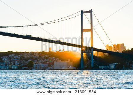 Istanbul, Turkey - Sunset and Bosphorus Bridge