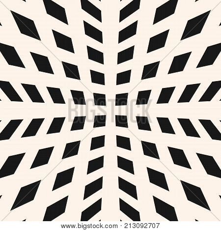 Geometric grid pattern with squares, rhombuses, crossing lines, mesh. Abstract checkered seamless texture, black and white. Simple modern monochrome background. Repeat design element. Squares pattern. Geometric pattern. 3d pattern. Design pattern.