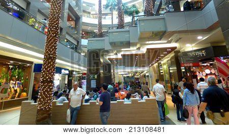 SANTIAGO, CHILE - NOVEMBER 5, 2017: Shopping center in Santiago, Chile. Mall center. Commercial center