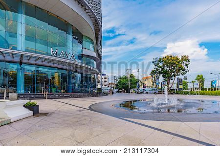CHIANG MAI THAILAND - JULY 25: This is Maya shopping mall a popular luxury shopping mall in Chiang Mai on July 25 2017 in Chiang Mai