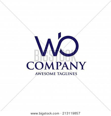 WB letter logo design vector illustration template, W letter logo vector, letter W and B logo vector, creative Letter WB letter logo
