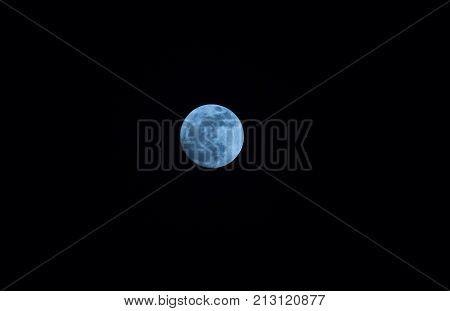 Super full moon in night skyBlue moon or full moon on festival