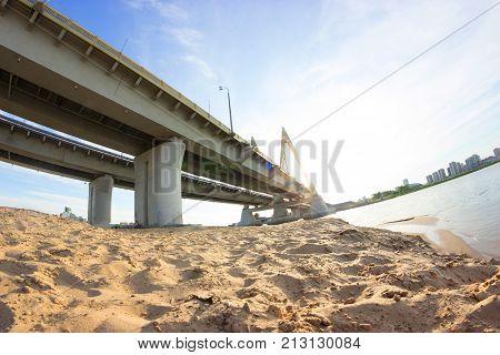 Millenium Bridge In Russia, Kazan City