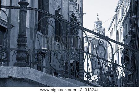 Lattice Bridge In Venice.