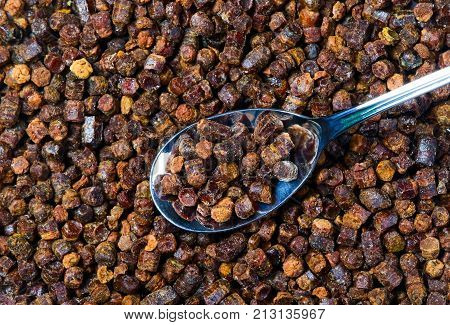 Propolis Granules With Spoon, Bee Product