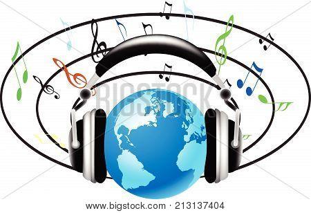 Cerchi Musica Cuffie Terra.eps