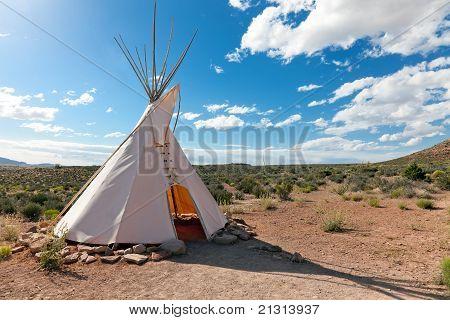 Teepee In American Prairie
