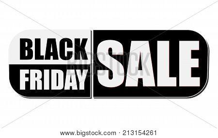 black friday sale - elliptic flat design label business holiday commerce concept