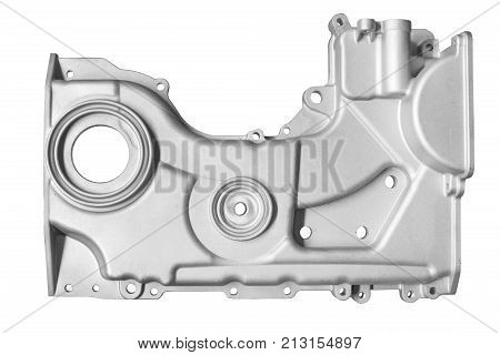car internal combustion engine cover on white background