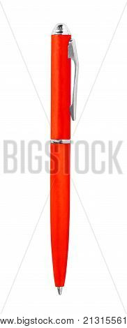The red pen isolated on white background