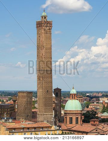 View On The Historic Center Of Bologna, Italy