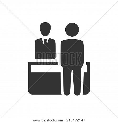 Smart, Beautiful, Meticulously Designed Vector Receptionist Icon