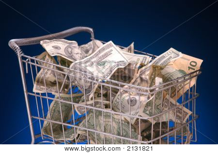 Grocery Cart With Cash