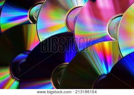 A lot of discs from dvd player