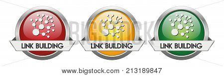 Modern Button Vector Link Building