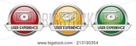 Modern Button Vector User Experience