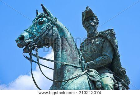 Turin, Italy -  June 24, 2010:  The monument of Alfonso Ferrero Della Marmora