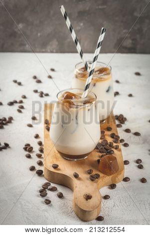 Iced Coffee With Caramel