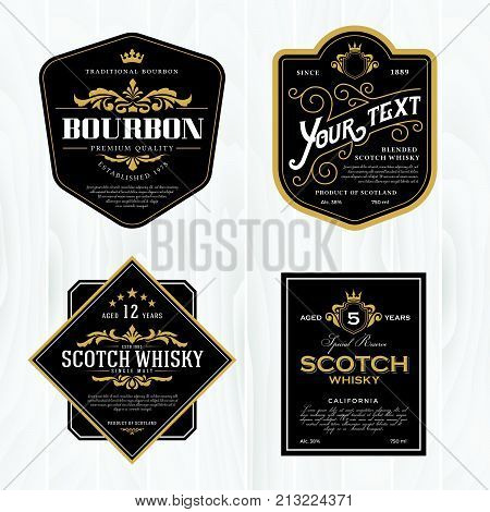 Classic vintage frame for labels banner and other design. Suitable for whiskey beer and premium product.