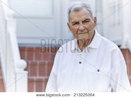 Elderly Man Looking At Camera
