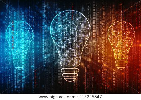 bulb future technology, innovation background, creative idea concept