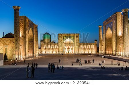 Madrassa In Samarkand At Sunset