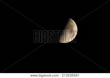 Half Moon Background The Moon Is An Astronomical Body That Orbits Planet Earth