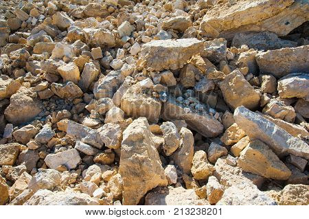 Production Of Stone At A Forsaken Quarry