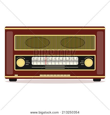 Retro radio retro radio icon. Flat design vector illustration vector.