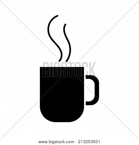 Coffee mug of drink breakfast and beverage theme Isolated design Vector illustration