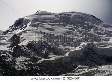 Moonlight ober Mont Blanc Massif, Haute Savoie, France, Europe
