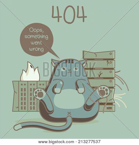 error web page. error 404 fanny cats