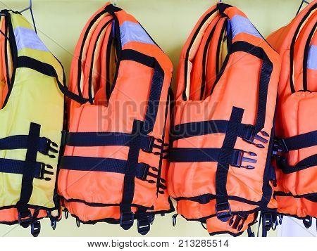 Life jacket close up
