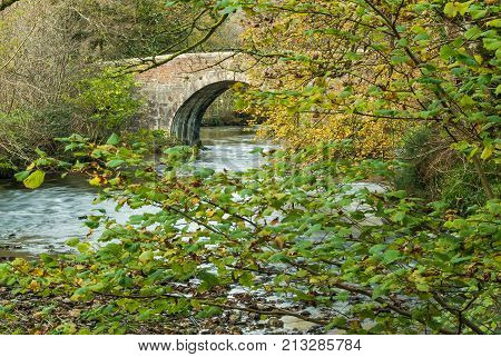 Respryn Bridge is a five arched mediæval bridge spanning the River Fowey in the parish of Lanhydrock. The bridge is of granite and stone rubble construction. The central pointed arch dates to the fifteenth century and probably represents part of the origi