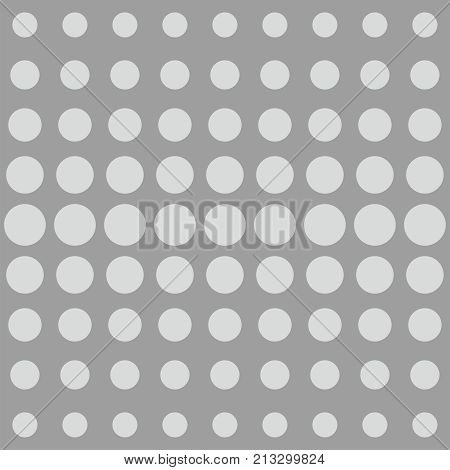 Grey dots background or comic vector pattern