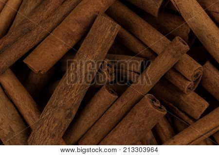 Cinnamon Sticks Spice Closeup