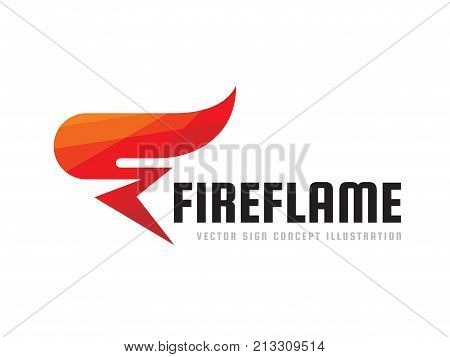 Fire flame - vector logo template concept illustration. Abstract red torch creative sign. Graphic design element.