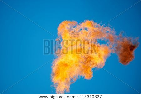 Combustion of associated petroleum gas. Associated gas, is a form of natural gas which is found with deposits of petroleum.