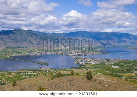Aerial View Of Osoyoos Wine Valley